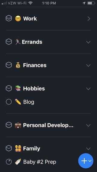 emojis in Things iOS