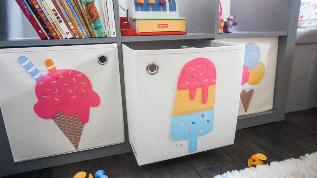 ice cream toy storage boxes