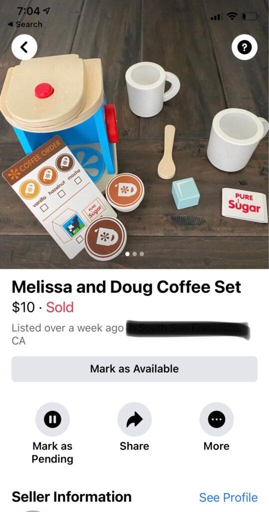 toy coffee set