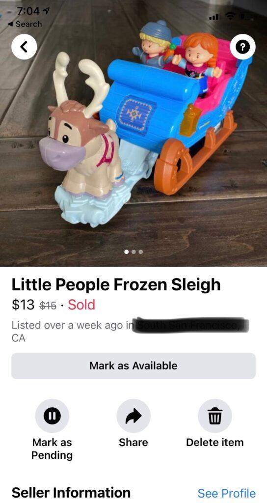 Frozen sleigh