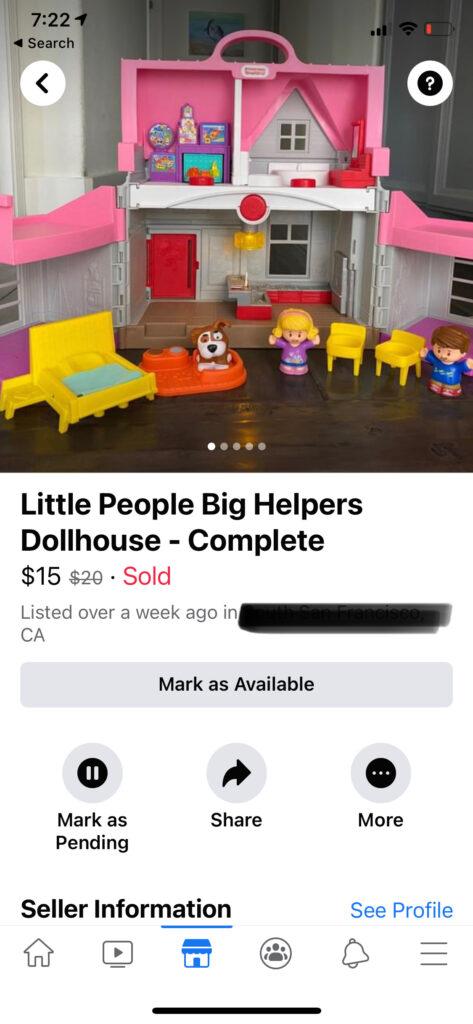 Little People dollhouse