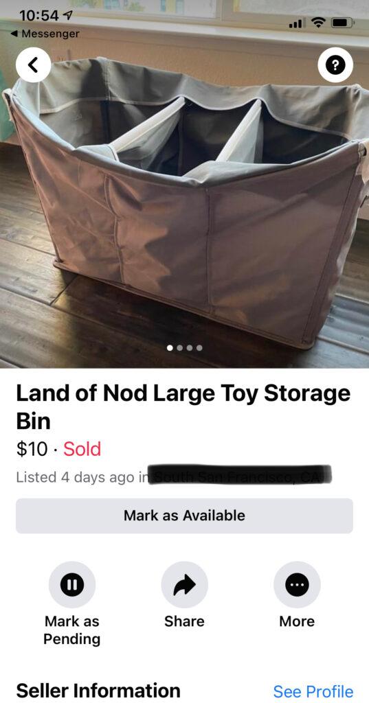 large toy storage bin