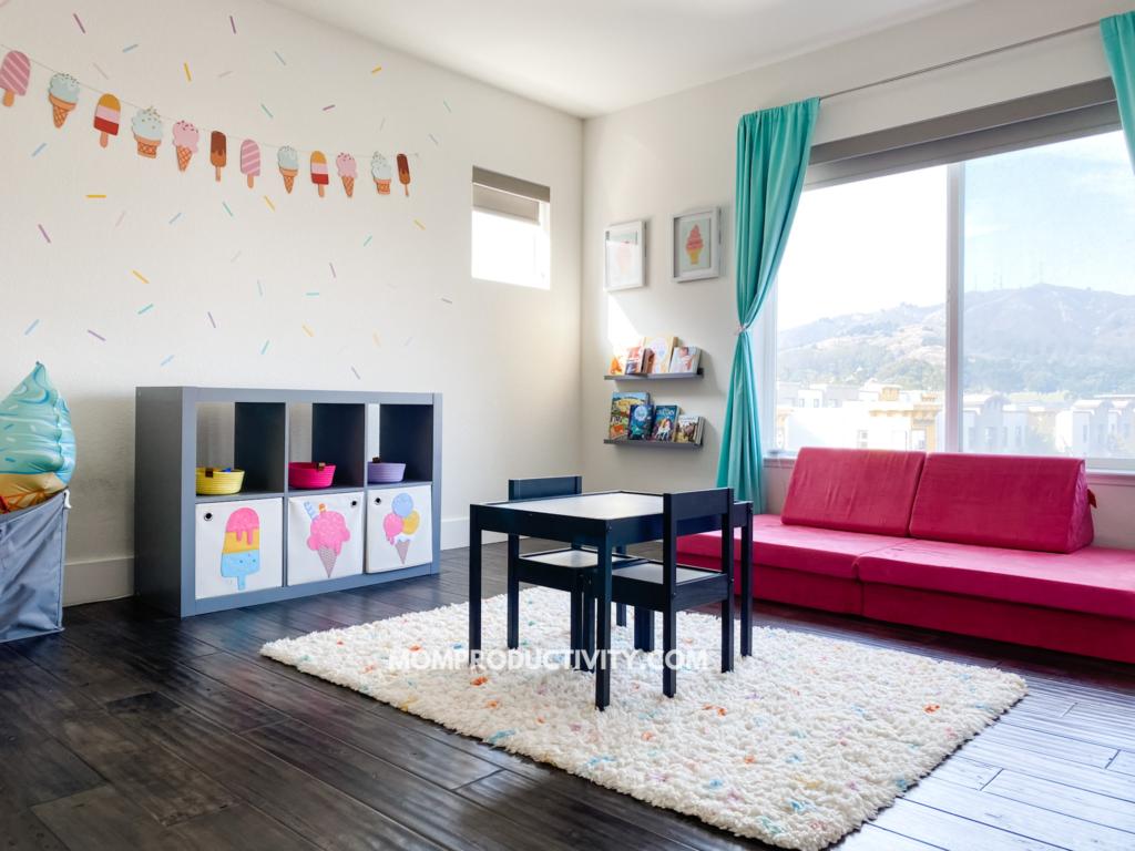 ice cream minimalist playroom